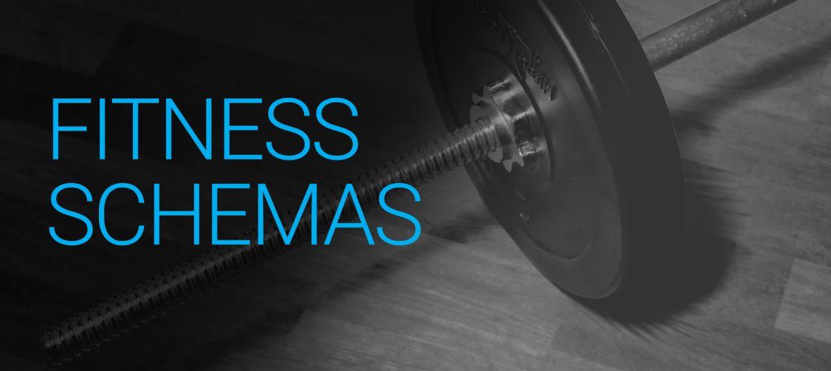 fitness schemas afbeelding