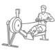 Fitness cardio oefeningen - roei apparaat - thumb