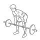 Fitness oefeningen rug biceps - halter roeien yates - thumb