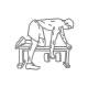 Fitness oefeningen rug - dumbbell roeien 1 arm - thumb
