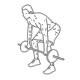 Fitness oefeningen rug - halter roeien neerwaardse greep - thumb