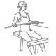 Fitness oefeningen rug - kabel roeien brede greep - thumb