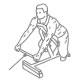 Fitness oefeningen rug - kabel roeien schuine bank - thumb