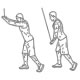 Fitness oefeningen rug - pulldown gestrekte armen - thumb