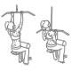 Fitness oefeningen rug - pulldown omgekeerde greep - thumb