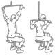 Fitness oefeningen rug - pulldown tot in nek - thumb