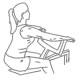 Fitness oefeningen rug - roeien met machine - rug