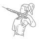Fitness oefeningen rug - touw roeien naar nek - thumb