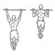 Rug oefeningen - optrekken brede greep - thumb