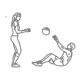 Buikspier oefeningen - crunch bal werpen - thumb