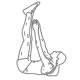 Buikspier oefeningen - crunch met gehefde benen - thumb