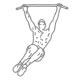Buikspier oefeningen - hangend zijwaarts knieheffen - thumb