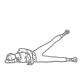 Buikspier oefeningen - knipmes zijwaarts - thumb