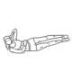 Buikspier oefeningen - liggend zijwaarts beenheffen - thumb