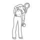 Buikspier oefeningen - zijwaartse crunch met dumbbell - thumb