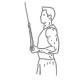 Ffitness oefeningen armen - triceps pressdown 1 arm - thumb