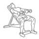 Fiitness oefeningen schouders - zittend voorwaarts dumbbell heffen - thumb