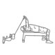 Fitness oefenigen armen - Liggend triceps strekken kabel - thumb