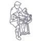 Fitness oefeningen armen - Biceps preacher curl machine - thumb