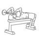Fitness oefeningen armen - Liggend triceps strekken halter - thumb