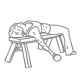 Fitness oefeningen armen - Liggende dumbbell curl - thumb