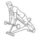 Fitness oefeningen armen - halter biceps curl liggend op schuine bank - thumb