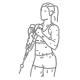 Fitness oefeningen armen - hammer biceps curl met touw - thumb