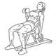 Fitness oefeningen armen - schuine dumbbell biceps curl - thumb
