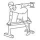Fitness oefeningen armen - triceps dumbbell kickback - thumb