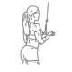 Fitness oefeningen armen - triceps pressdown rechte stang - thumb