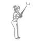 Fitness oefeningen armen - triceps pressdown touw - thumb