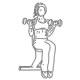 Fitness oefeningen armen - zittend biceps dumbbell curl - thumb