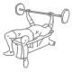 Fitness oefeningen borst - bankdrukken - thumb