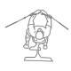 Fitness oefeningen borst - kabel borst flyes - thumb