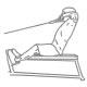 Fitness oefeningen schouder - lage kabel nek pull - thumb