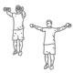 Fitness oefeningen schouders - afwisselend dumbbell heffen - thumb