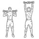 Fitness oefeningen schouders - staand dumbbell drukken - thumb
