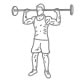Fitness oefeningen schouders - staand halter drukken achter nek - thumb