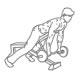 Fitness oefeningen schouders - voorover halterl heffen - thumb