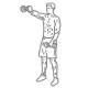 Fitness oefeningen schouders - voorwaarts dumbbell heffen - thumb
