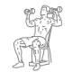 Fitness oefeningen schouders - zittend dumbbell drukken - thumb
