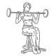 Fitness oefeningen schouders - zittend halter drukken - thumb