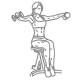 Fitness oefeningen schouders - zittend zijwaarts dumbbell heffen - thumb