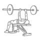 Fitness oefeningen triceps - bankdrukken smalle greep - thumb