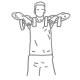 Fitness schouder oefeningen - upright dumbbell roeien - thumb