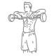 Fitness schouder oefeningen - upright halter roeien - thumb