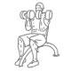 Fitness schouder oefeningen - zittend arnold press - thumb