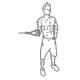 Schouder fitness oefening - inwaards roteren kabel - thumb