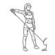 Schouder fitness oefening - staand zijwaarts kabelheffen - thumb