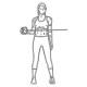 Schouder fitness oefening - uitwaards roteren kabel - thumb